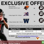 Ottawa RedBlacks Football Club exclusive ticket offer for Barrhaven Scottish Rugby Football Club