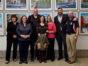 Barrhaven Councillor Jan Harder, Conservative MPP Lisa Macleod, Gordon Stringer, Kathleen Stringer, BSRFC President Barb Gillie, Ottawa City Councillor Jody Mitic, BSRFC VP Marketing Phil Selig