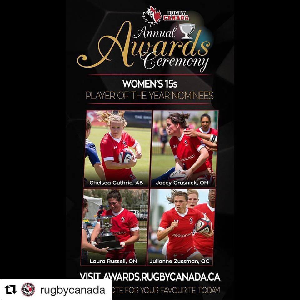 Ottawa's Barrhaven Scottish Rugby Club's Jacey Grusnick Finalist for Player of the Year