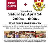 5 Guys Burgers & Fries Fundraiser
