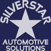 Silverstar Automotive Solutions logo, silver star on blue background